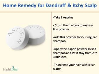 Asprin for Dandruff and Itchy scalp