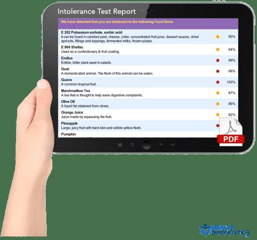 Intolerance Test Report