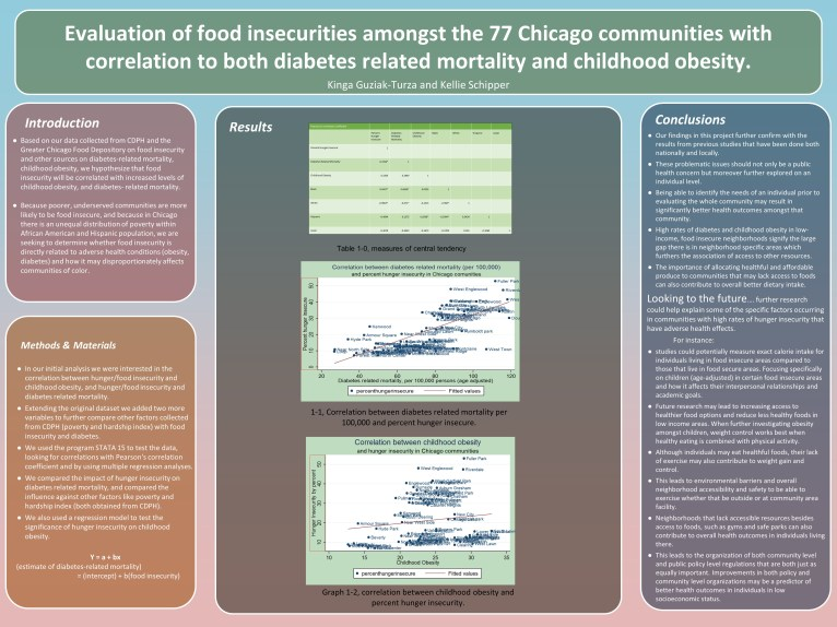 Food insecurity, childhood obesity, and diabetes-related mortality in Chicago.