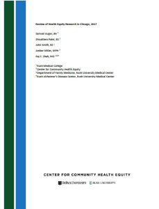 Review of Health Equity Research in Chicago, 2017