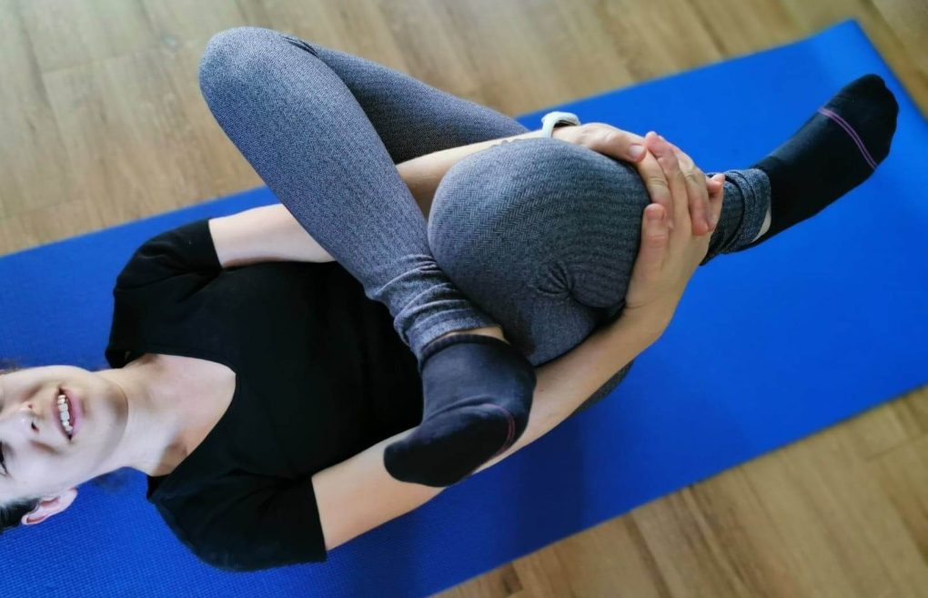 Pretzel Glute Stretch for SI joint pain