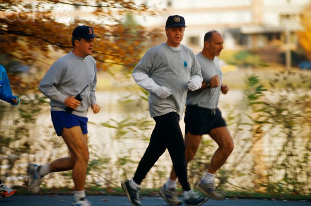 Bill Clinton Jogging