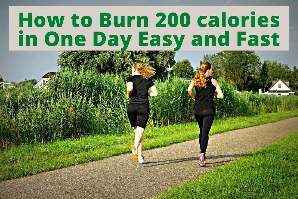 burn 200 calories in day