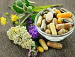 bowl of natural supplements