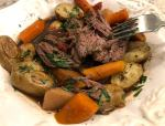 Plated slow cooker pot roast