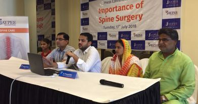 Jaypee Hospital specialises in spinal surgeries