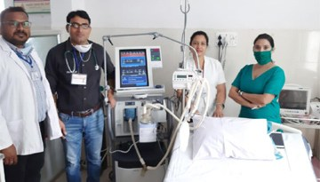 जिला अस्पताल अनूपपुर को दान में मिले 2 वेंटिलेटर्स