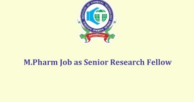 ICT Job for MPharm as Senior Research Fellow