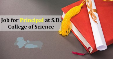 S D College of Science Job for Principal