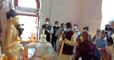 स्वास्थ्य मंत्री डॉ. चौधरी ने सॉची में भगवान बुद्ध के शिष्यों के पवित्र अस्थि कलशों का पूजन किया
