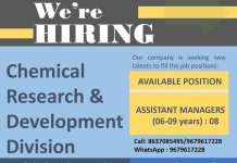 API PHARMA TECH PVT LTD Urgent Openings for Assistant Manager R and D