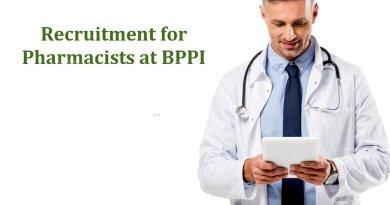 BPPI Government of India Job Recruitment for Pharmacists