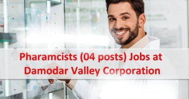 DVC Government Organization Detail Advertisement Job Openings for Pharmacists