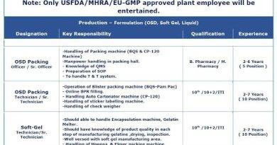 MANKIND PHARMA LTD Mega Recruitment Drive for Production Packing Formulation OSD Liquid Soft Gel on 29th Nov 2020