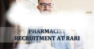 RARI Career for Pharmacy graduates