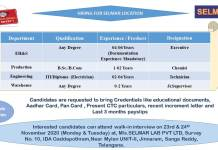 SELMAR LAB PVT LTD  WalkIn Interviews for EHS Production Departments on 23rd and24th Nov 2020