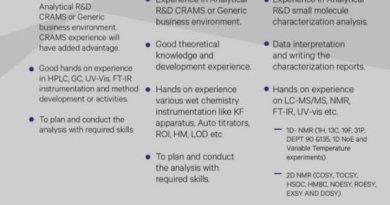 Sai Life Sciences Pvt Ltd Urgent Hiring for Method Development Structural Characterization Apply Now