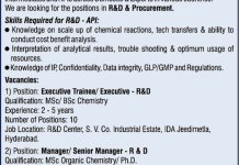 Tagoor Laboratories Pvt Ltd WalkIn Interviews for R and D Procurement on 13th and 17th Nov 2020