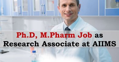 AIIMS Opportunity for PhD MPharm as Research Associate