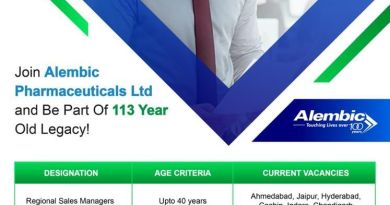 Alembic Pharma Limited Hiring for Fresher and Experienced Area Sales Managers and Regional Sales Managers Apply Now