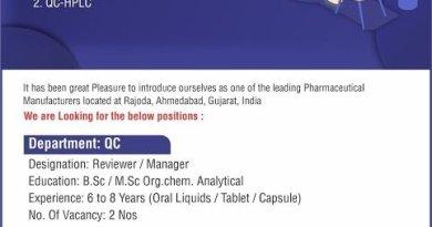 BioMatrix Healthcare Pvt Ltd Urgent Openings for Quality Control QC HPLC