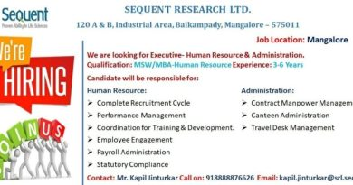 Sequent Research Ltd Urgent Opening for Human Resource Apply Now