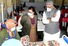 मंत्री श्री सारंग ने सुल्तानिया अस्पताल का किया निरीक्षण