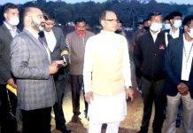 मुख्यमंत्री ने अमरकंटक में गायत्री और सावित्री तालाबों का किया निरीक्षण