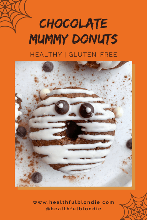 healthy chocolate halloween donuts