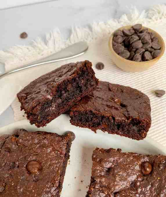 healthy flourless double chocolate brownies