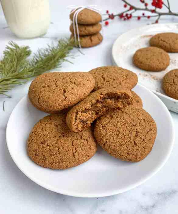 healthy gingerbread sugar cookies