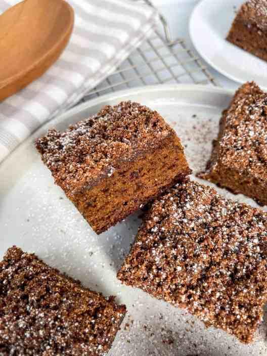 Grain-free, gluten-free, paleo gingerbread coffee cake