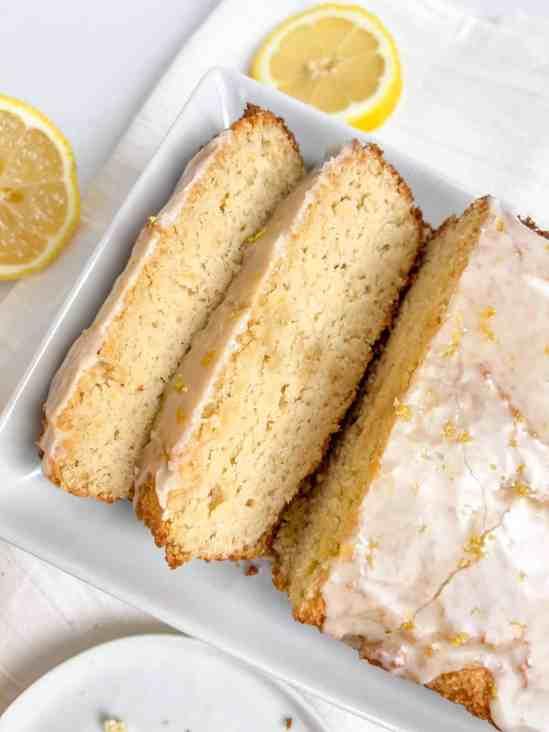 Best ever low-fat, gluten-free lemon pound cake! recipe by Healthful Blondie