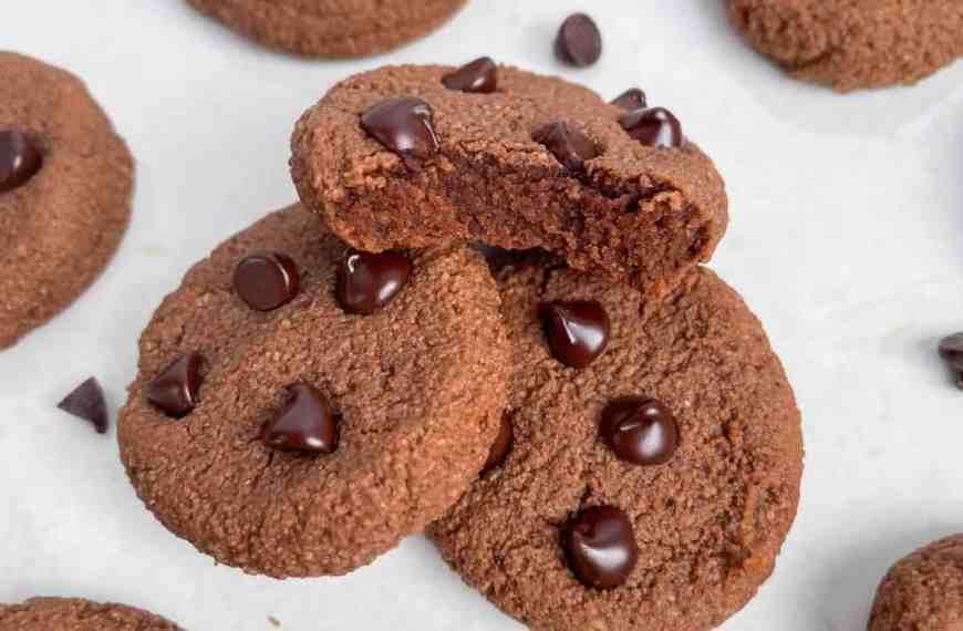 Grain Free Coconut Chocolate Fudge Cookies