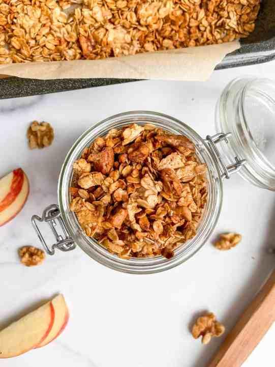 Best Ever Healthy Homemade Apple Pie Granola - recipe by Healthful Blondie