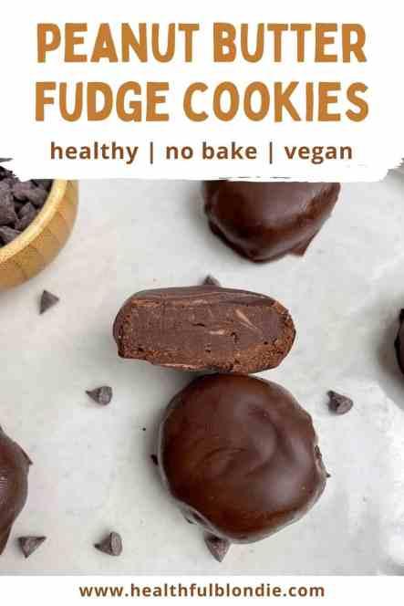 Healthy No Bake Peanut Butter Fudge Cookies - recipe by Healthy Blondie.