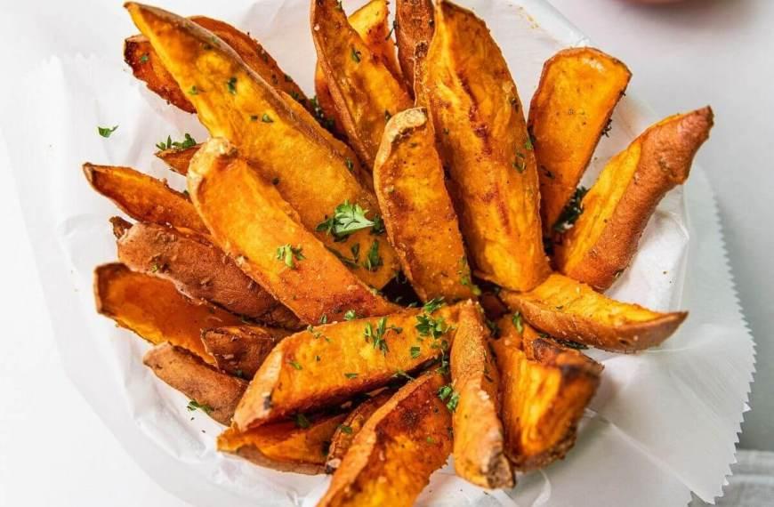 Air Fried Sweet Potato Steak Fries