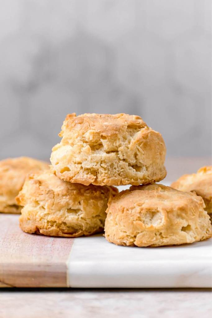 homemade fluffy and flakey almond milk biscuits