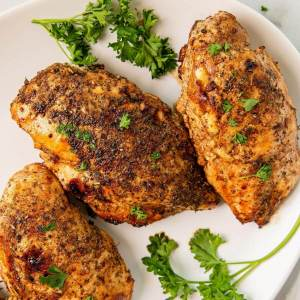 juicy balsamic chicken breasts stuffed with fresh tomato and warm feta