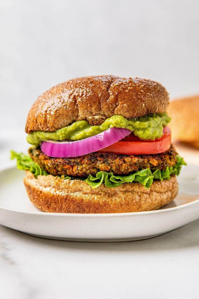 veggie burger with no beans