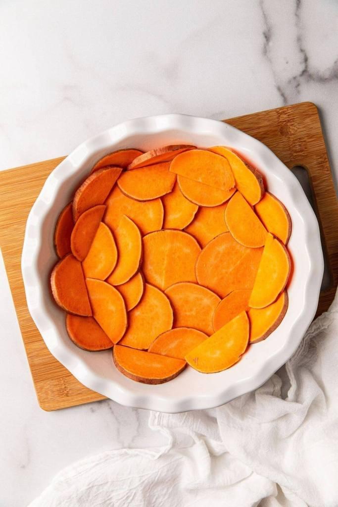 how to make sweet potato quiche crust