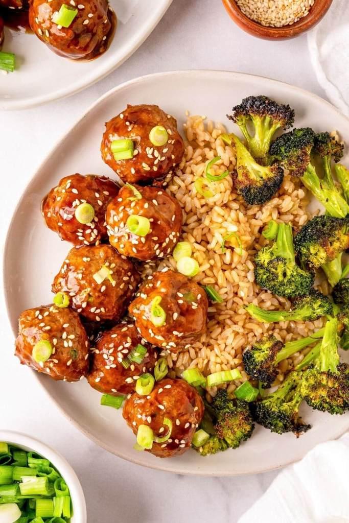 gluten free teriyaki turkey meatballs