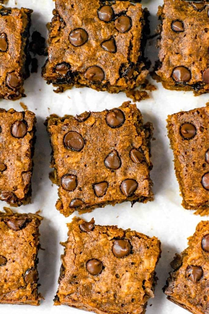 healthy oatmeal pumpkin bars
