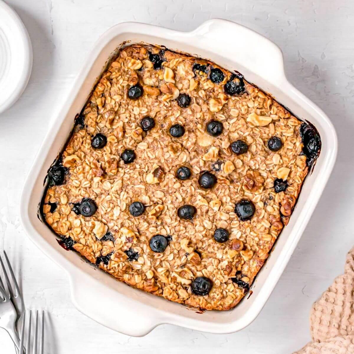 vegan baked oatmeal recipe (egg free)