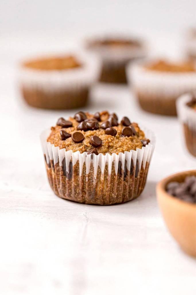almond flour chocolate chip banana muffins