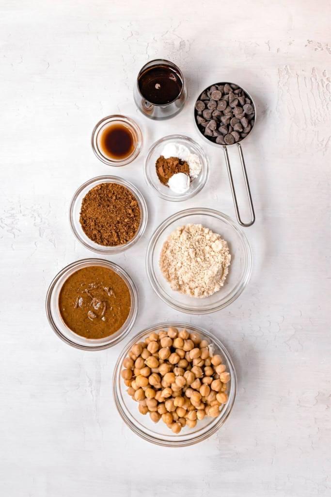 ingredients in vegan chickpea blondies