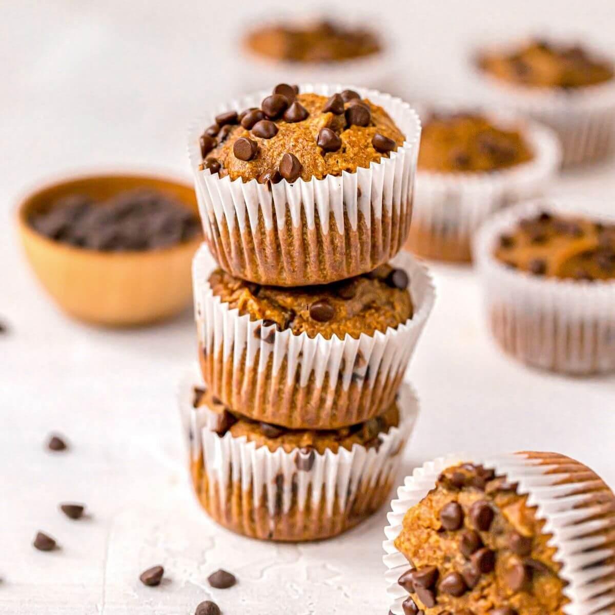 pumpkin protein powder muffins