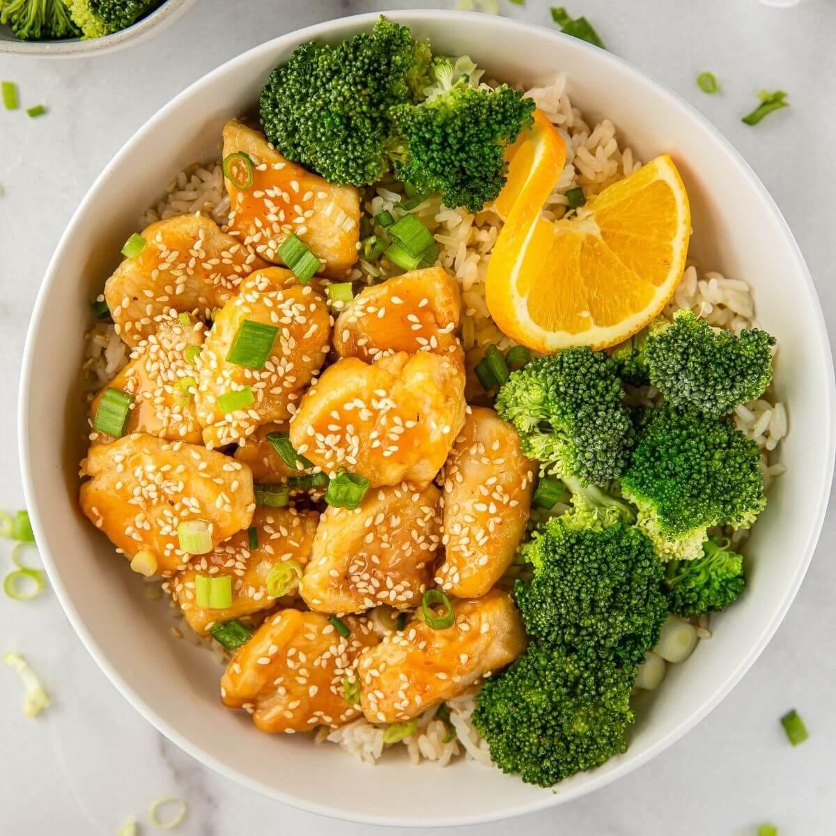 healthy air fryer orange chicken recipe