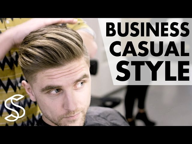 Professional men\'s hairstyling – Business casual – Short sides 4k ...