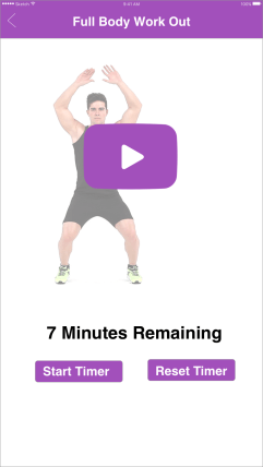 Full body workout with tutorial